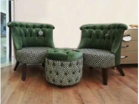 Кресла и пуфик